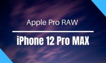Mode Photo Apple Pro Raw